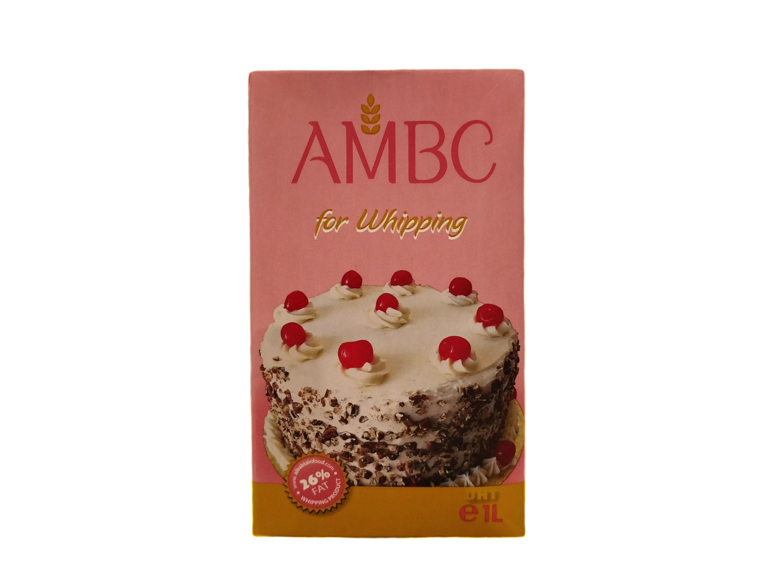 Сливки растительные AMBC для взбивания крема