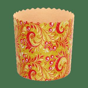 Форма бумажная пасхальная хохлома