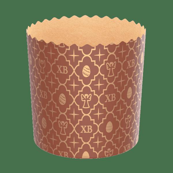 форма бумажная пасхальная коричневый фон